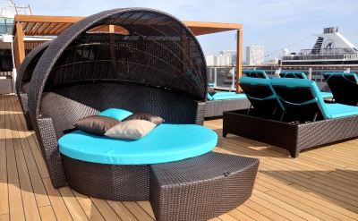 Carnival Miracle deck chair
