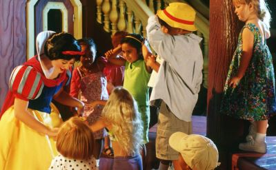 Disney cruise character greeting